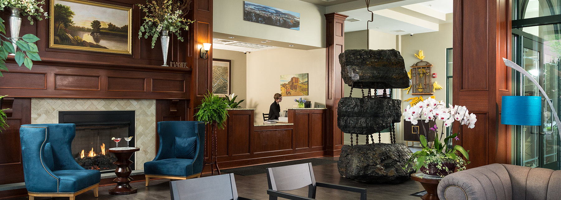 Hotel Anthracite, Carbondale, PA, Lobby
