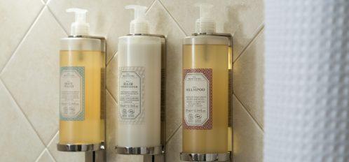 Shampoo in shower holder